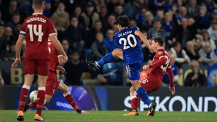 Okazaki and Slimani strike as Leicester beat Liverpool in the Carabao Cup