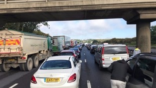 The Southbound carriageway on the M1 has reopened
