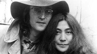 Yoko Ono with Beatles legend John Lennon