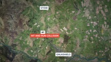 Hit and run collision on the A7