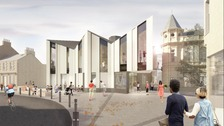 Artist impression of the Great Tapestry of Scotland visitor centre
