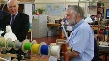 Vince Cable at Skye Instruments in Llandrindod Wells