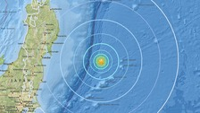 The quake was at a depth of 10km.