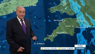 A wet and windy start in the South West