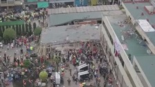 Mexico earthquake: Desperate search for survivors at school