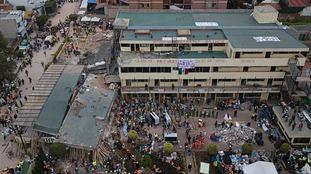 Mexico earthquake: Desperate search for survivors at school