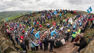 Competitors cycling up the Cote de Lofthouse during Stage Two of the Tour de Yorkshire.