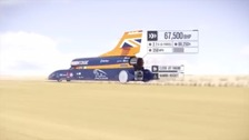 Bloodhound supercar heads to Newquay for testing