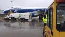 Hurricane Irma aid shortly leaving East Midlands Airport