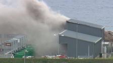 Fire at La Collette Recycling Centre