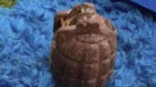 World War Two grenade found at Weaste Cemetery