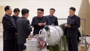 Kim Jong-un inspects an alleged hydrogen bomb.