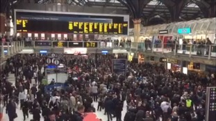 It was a chaotic scene at Liverpool Street station.