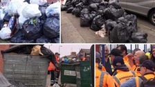 Birmingham's refuse collectors have been back to work today after the bin strike was put on hold.