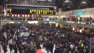 Massive disruption at Liverpool Street after person hit by a train in Essex