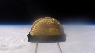 Cornish students send pasty into space