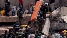 Rescuers search for survivors in Mexico City school