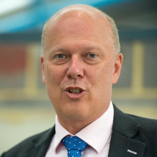 Transport Secretary Chris Grayling will speak in Manchester today
