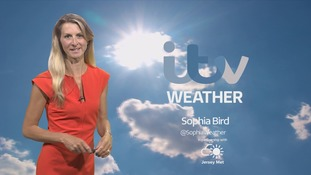 Mainly sunny, becoming cloudier for a time in the evening