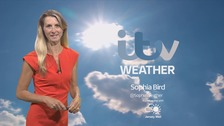 Mainly sunny, becoming cloudier for a time later
