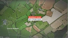 Boy found dead at house in Shropshire