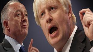 Ken Livingstone and Boris Johnson at loggerheads over London mayoral position
