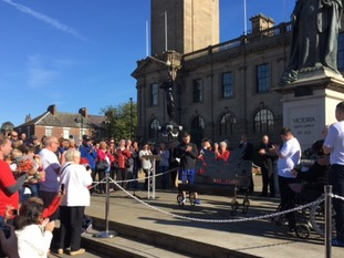 The bench will sit pride of place outside South Shields Town Hall.