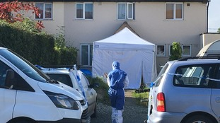 Forensic officers are at the scene