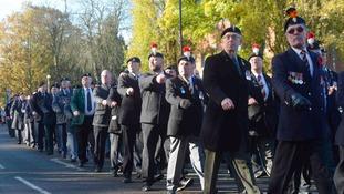 The Bedworth Armistice Day Parade