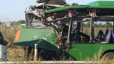 Rush hour delays on A47 after coach and bus crash