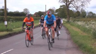 Martin Johnson in training for the Velo