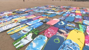 14,000 bodyboards are collected for landfill from across the Westcountry each year.