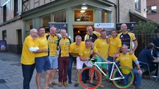 Some of the cyclists who raised £135k riding to every rugby club in Norfolk