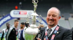 Rafa's Newcastle beat Brighton to win the Championship last season