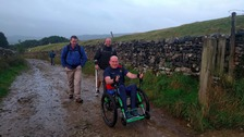 First man to climb Yorkshire Three Peaks in wheelchair