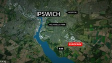 The incident happened near the Ipswich Europark.