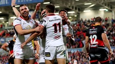Ulster romp to eight-try win over Dragons