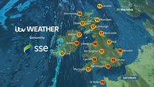Some warm sunshine, but windy in the west