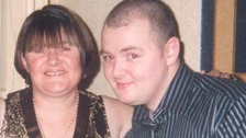Anthony Cavanagh with his mother Pat