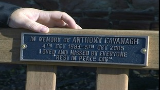 A bench in memory of Anthony Cavanagh