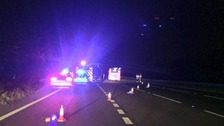 Explosive team working with fire service to clear hazardous material on M3