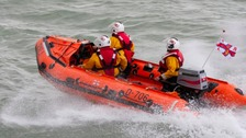 Lifeboat crews search for missing person