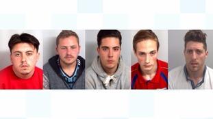 Danny Lockett, Craig Quennell, Jordan Hinton, Luke Martin and Sean Stuart