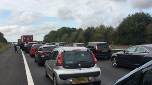 Motorway re-opening after potentially hazardous material found on M3