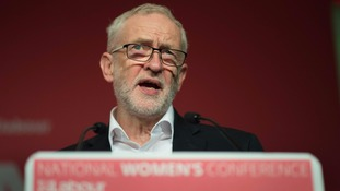 Jeremy Corbyn attended the Labour women's conference.