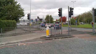 Moston Lane at the junction with Hollinwood Avenue