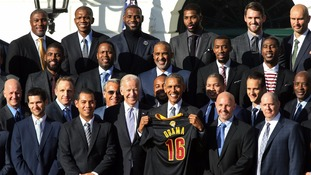 Obama with the Cavaliers