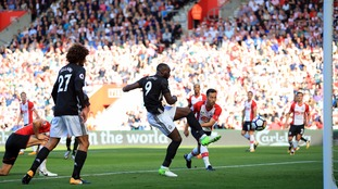 Romelu Lukaku's first-half strike was enough to secure the three points in a tempestuous affair at St Mary's