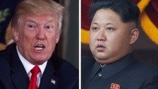 US bombers and fighter jets sent past North Korea