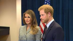 Prince Harry meets Melania Trump ahead of Invictus Games